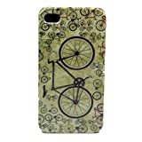 Bicycle Retro Design Hard Skin Case Cover for Apple iPhone 4 4S 4G Gen + One Headset Winder