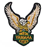 YAMAHA EAGLE RACING MOTORCYCLE SCOOTERS BIKER JACKET IRON ON PATCHES #With FREE GIFT