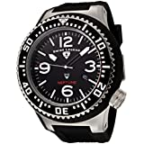 Swiss Legend Men's 21818P-01 Neptune Collection Stainless Steel Black Rubber Watch