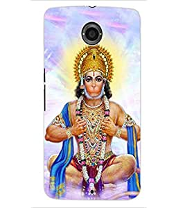 ColourCraft Lord Hanuman Design Back Case Cover for MOTOROLA GOOGLE NEXUS 6