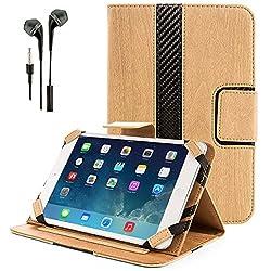 Vg-Gear Natural Wood Tablet Sleeve + Black Hands-Free Headphones W/ Remote & Mic