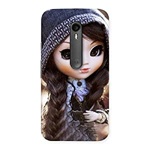 Delighted Cute Beautiful Doll Back Case Cover for Moto G Turbo
