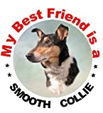 2 Smooth Collie Car Stickers My Best Friend