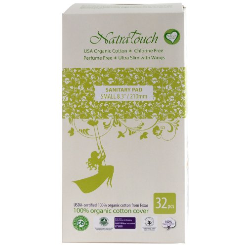 Natratouch Organic Sanitary Pads Ultra Slim with Wings 32 piece (Small)