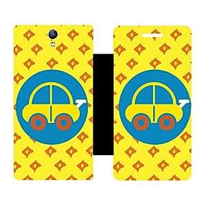 Skintice Designer Flip Cover with Vinyl wrap-around for Lenovo Vibe S1, Design - car
