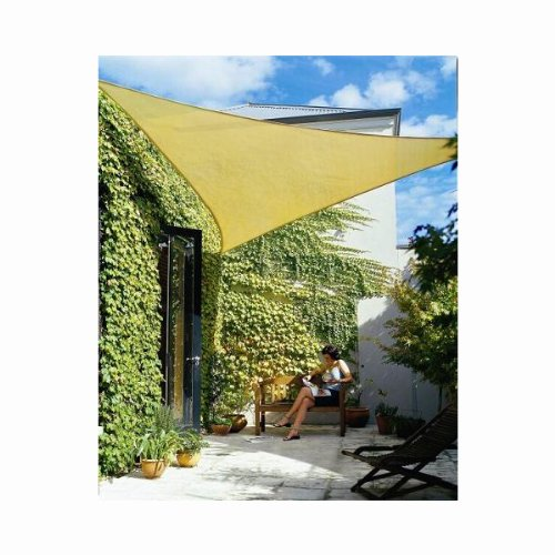 Phoenix 11.5' Triangle Sun Shade Sail Complete Kit Desert Sand Color