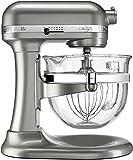 KitchenAid KF26M2XNP 6-Qt. Professional 600 with Glass Bowl Nickel Pearl