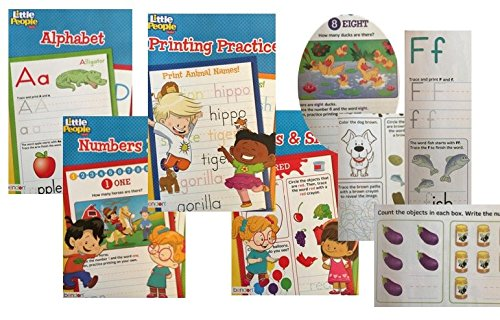 Fisher-Price-4-Book-Set-Educational-Activity-Workbooks-Worksheets-Preschool-Pre-K-Kindergarden-Prep-1st-2nd-Graders-Home-School-Learning-Alphabet-Math-Spelling-Addition-Subtraction-age-2-3-4-year-olds