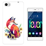 002712 - Colourful Red Fox Nature Design Wiko Fever special