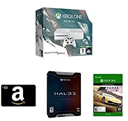 Xbox One 500GB White Console - Special Edition Quantum Break Bundle + Amazon.com $50 Gift Card (Physical Card) + Halo 5 Limited Edition + Forza Horizon 2 (Digital Code)