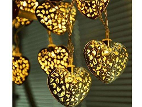 12lanterne a energia solare, a forma di cuore LED luci da giardino, per festa di matrimonio decorazioni da giardino, bella luce notturna lampada solare alimentata Eco