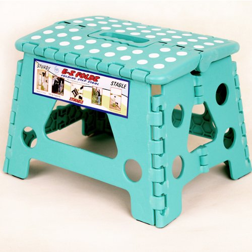 Green Ez Foldz Step Stool / Bench, 9'' High -Affordable