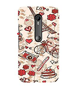 Ifasho Modern Art Design Pattern Bicycle Camera Cake Tower Back Case Cover For Moto G3