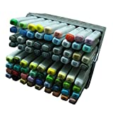 Lanxivi Finecolour Sketch Marker Pen 72 Colors Oil Base Set Artist Necessary Work Supplier (Color: Mix Color)