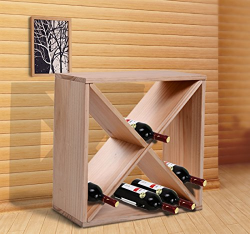 Modular design Wood Wine Rack - W10 (Stact Modular Wine Rack White compare prices)