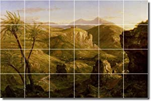 Thomas Cole Historical Kitchen Tile Mural 17. 48x72 Inches Using (24) 12x12 ceramic tiles.
