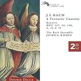 Bach: 6 Favourite Cantatas (BWV 147, 80, 140, 8, 51, 78) /Bach Ensemble * Rifkin ~ Bach Ensemble