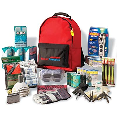 Tactical First Aid Kit: Ready America 70385 Deluxe Emergency Kit 4 Person Backpack from Ready America