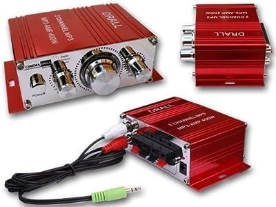 400W Mini-Endstufe Verstärker (ideal für Wohnungen, Motoroller, Motorrad, Auto und MP3-Player) - ROT Modell: EN4 von Drall Instruments bei Reifen Onlineshop