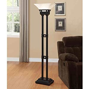 Amazon Com Sutton 71 Inches Tall Floor Lamp With Two