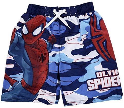 [Marvel Boy's Avengers Superhero Swim Trunks Ultimate Spiderman 4/5] (Blue Spiderman Suit)