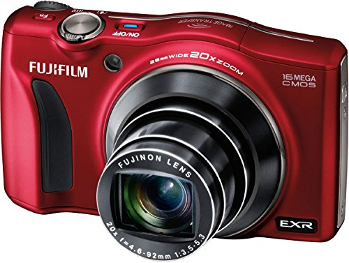 Fujifilm Finepix F850Exr {Manufacturer Refurbished} 16 Mp Compact Camera Hd 1080P Movies Video Fujinon 20X Optical Zoom Cmos With 3-Inch Lcd (Red)