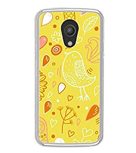 ifasho Animated Pattern colrful design cartoon flower with leaves Back Case Cover for Moto G2
