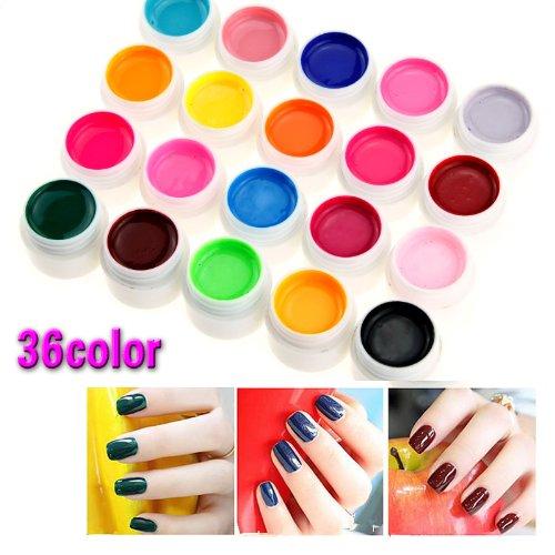 36-farbe-nail-art-uv-gel-farbgel-effekt-gele-fingerngel-nagelgel-nagel-set