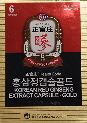 KGC Cheong Kwan Jang Korea Red Ginseng Extract Capsules (100 Capsules) (Korean Red Ginseng Extract Powder compare prices)