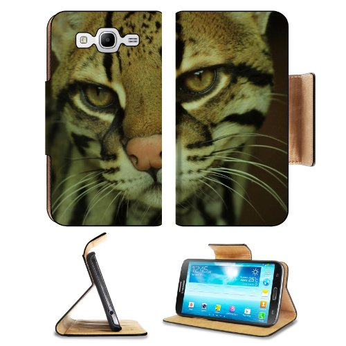 Fisher Cat Face Eyes Mottled Samsung Galaxy Mega 5.8 I9150 Flip Case Stand Magnetic Cover Open Ports Customized Made To Order Support Ready Premium Deluxe Pu Leather 6 1/2 Inch (165Mm) X 3 2/5 Inch (87Mm) X 9/16 Inch (14Mm) Liil Mega Cover Professional Me