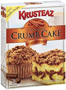 Krusteaz Crumb Cake Mix, Cinnamon, 21-Ounce Boxes (Pack of 6)