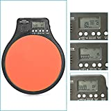 Neewer® 3 in 1 Digital LCD Display Portable Drum Practice Pad Metronome Drummer Training Pad with Adjustable Rhythm Beat Tempo Orange