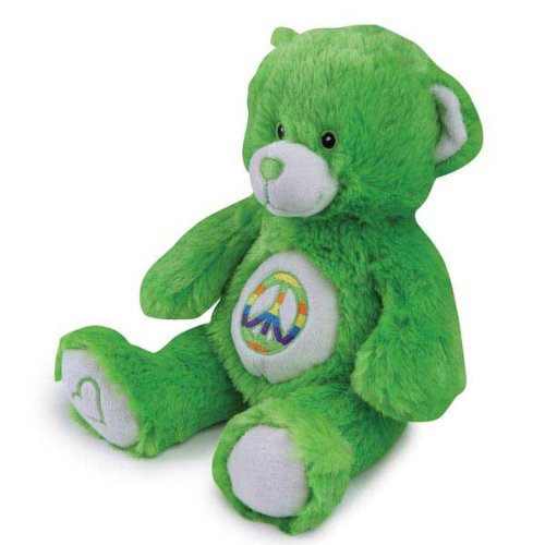 Grriggles Jelly Bean Bear Pet Toy, Green