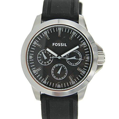 Fossil BQ1291 - Orologio da polso da uomo, cinturino in silicone