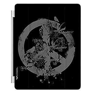 Enthopia Designer Front Smart Cover Peace - Black for Apple Ipad 2/3/4 with Transparent Back Case