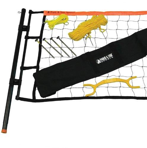 Backyard Volleyball Net Size :  & Sun Tournament Flex Adjustable Outdoor Volleyball Net System, Blue