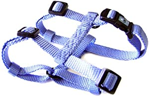 "Hamilton Adjustable Comfort Nylon Dog Harness, Berry Blue, 5/8"" x 12-20"""