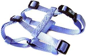 "Hamilton Adjustable Comfort Nylon Dog Harness, Berry Blue, 3/8"" x 10-16"""
