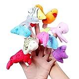 10Pcs Sea Animal Finger Puppets