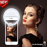 NEW Selfie Ring Light [Chargeable][No Battery required] 36 LED Night Light 4 Settings for iphone 7/7 Plus/6/6s/6 plus/6s Plus iPad,Galaxy Note 7/S7/S7 Edge,Galaxy S6 Edge/S6,All the Smart Phones-White