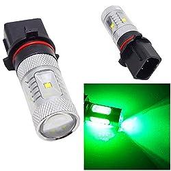 See 10Pcs Green P13W 30W Cree High Power Light Car LED Fog Bulb For Audi Camaro Details