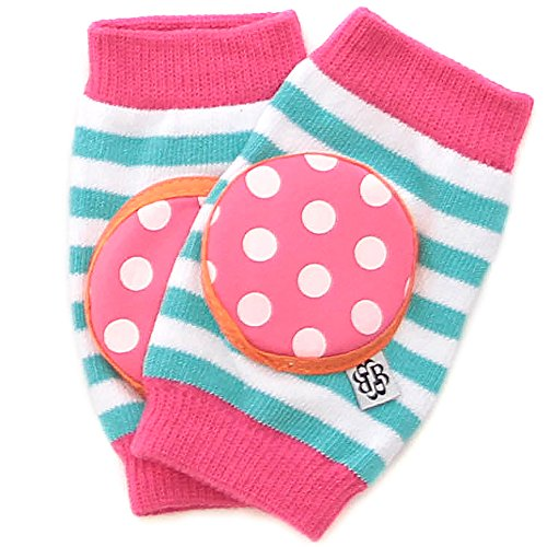 Bella Tunno Happy Knees Baby Knee Pads, Cotton Candy Dandy