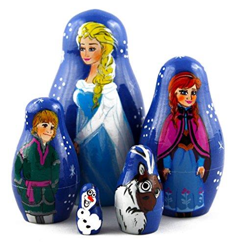 Frozen-Elsa-and-Anna-Wooden-Nesting-Dolls-Matryoshka-Russian-Dolls-Movie-TV-Film-Kids-Gifts-Ideas-Room-Design-Ideas-Toys-Wood-set-5pc