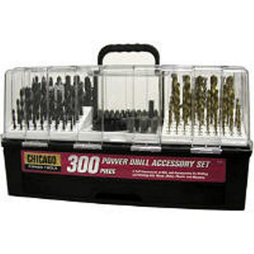 Chicago Power Drill Accessory Set 300 Pc