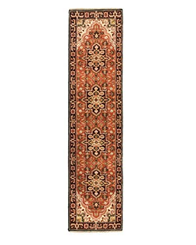 Hand-Knotted Royal Heriz Wool Rug, Copper, 2' 6 x 10' 1 Runner
