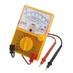 Orange Electrical Volts Amps Ohms DB Multifunctional Multitester Multimeter