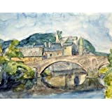 Old Bridge, Bridgend, Glamorganshire, by Graham Bell (Print On Demand)