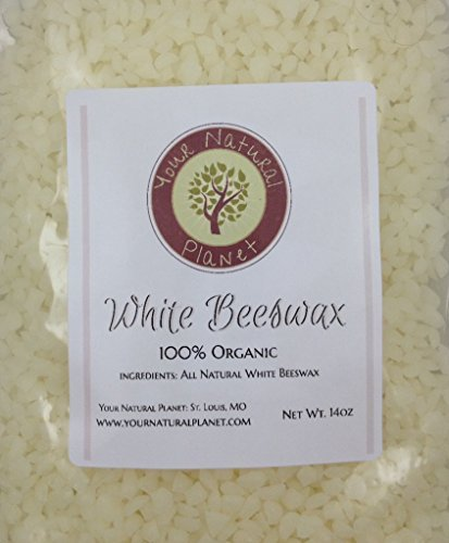 Organic White Beeswax Pellets by Your Natural Planet - 14 oz - Tested and Certified 100% Organic