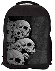 Snoogg Dark Skull Death Backpack Rucksack School Travel Unisex Casual Canvas Bag Bookbag Satchel