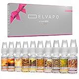 10-x-10ml-Elvapo-E-LIQUID-BOX-Made-in-Germany-Tabak-Set-American-Blend-Royal-Virginia-Blend-Samsoun-Orient-Golden-Spirit-Honey-Sunset-Brasil-del-Sol-Sweet-Orient-Probierset-fr-E-Zigaretten-und-E-Shish
